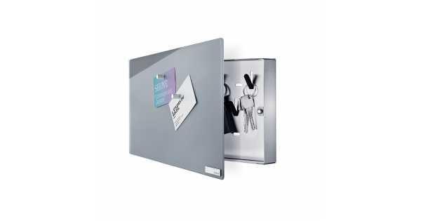 Blomus Velio Magnetic Glass Board Key Cabinet Horizontal Grey