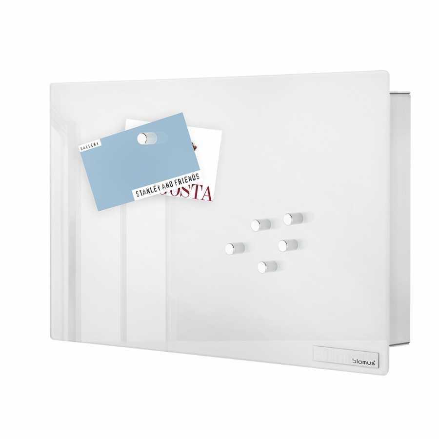 Blomus Velio Magnetic Glass Board Key Cabinet Horizontal White