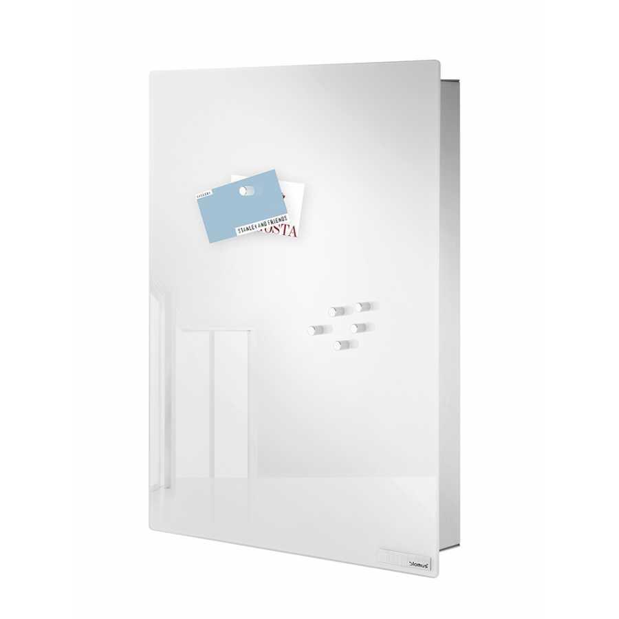 Blomus Velio Magnetic Glass Board Key Cabinet Vertical White