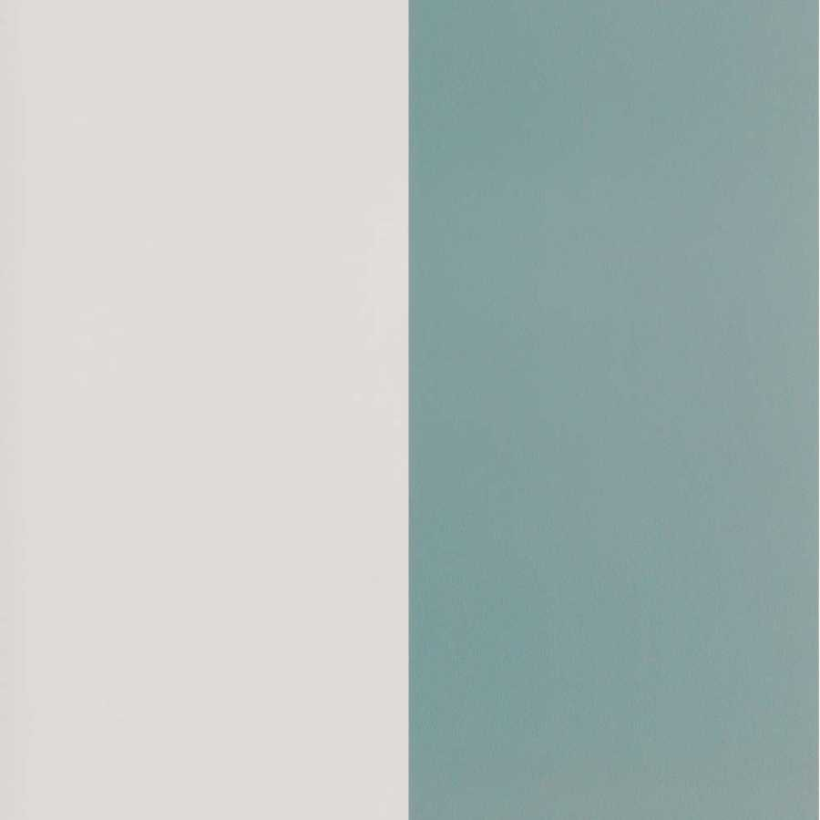 Ferm Living Thick Lines Wallpaper Dusty Blue Off White