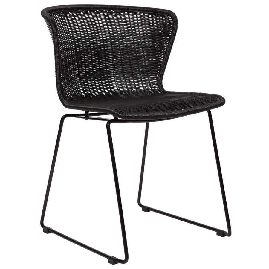 Peachy Woood Wings Outdoor Dining Chairs Set Of 2 Black Short Links Chair Design For Home Short Linksinfo
