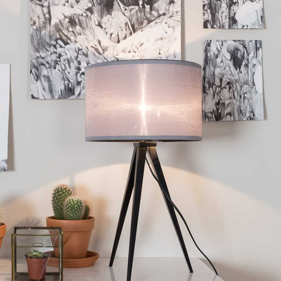 Zuiver Tripod Table Lamp Black Grey